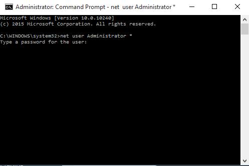 Admin password change