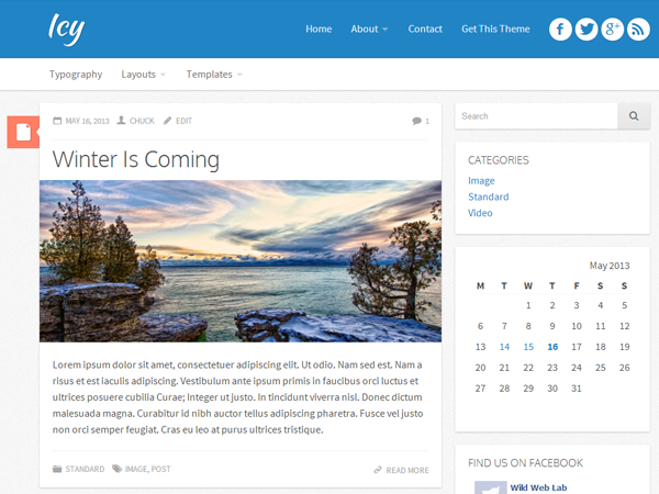 ICY Theme For WordPress