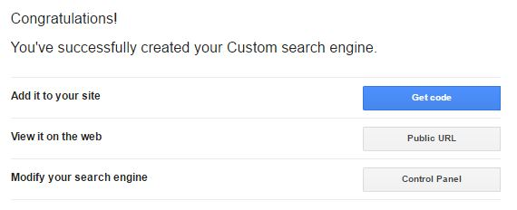 Get Code Google Search Bar