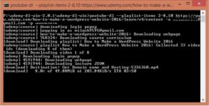 download udemy videos command