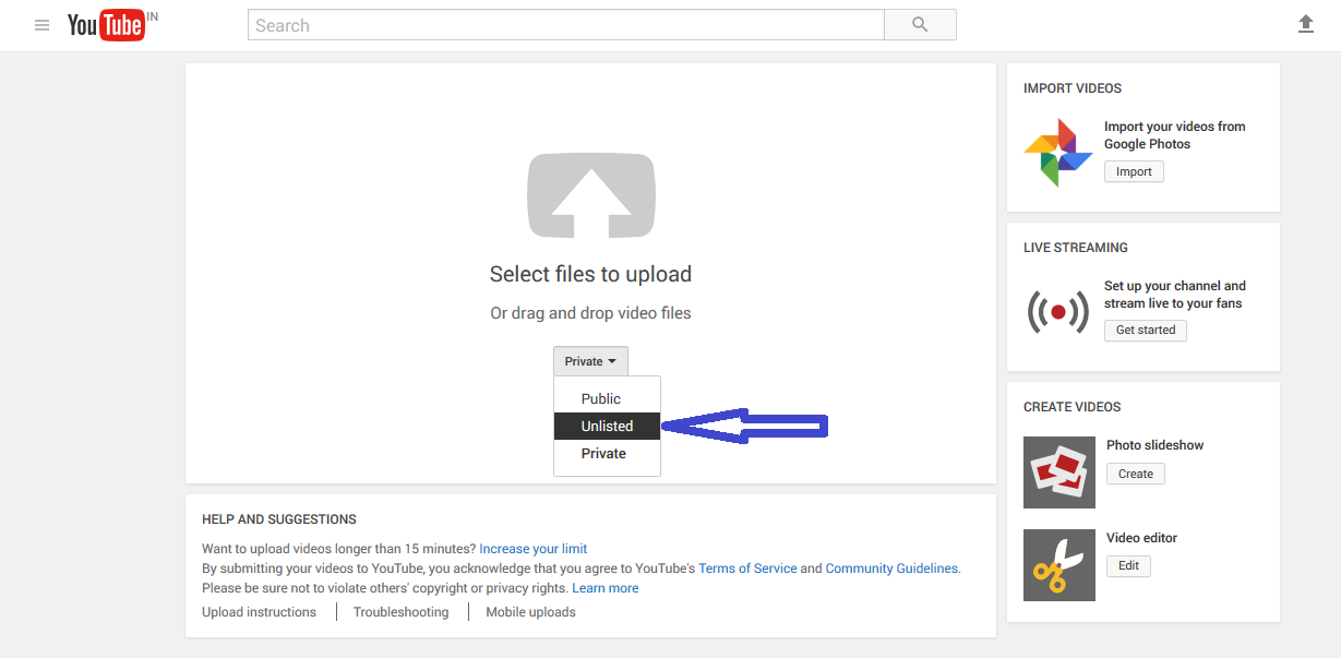 how to make a video unlisted in youtube