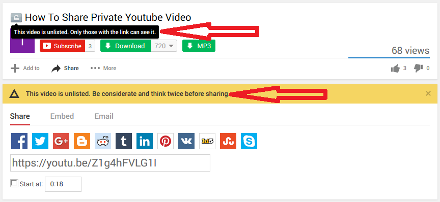 this video is unlisted. be considerate and think twice before sharing.