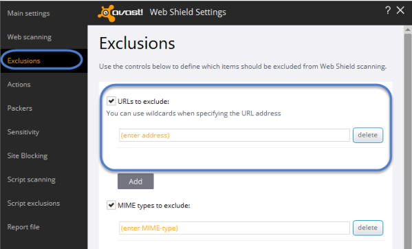 Avast err_spdy_protocol_error Exclusion Fix