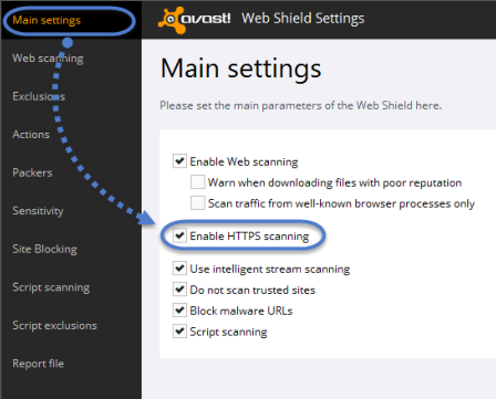 Avast err_spdy_protocol_error HTTPS Fix