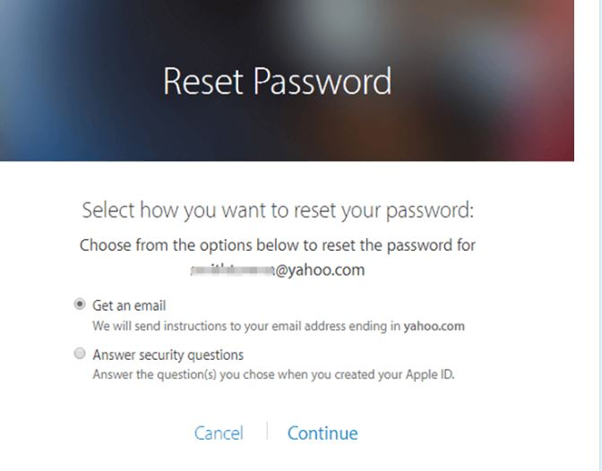 Reset Apple Password