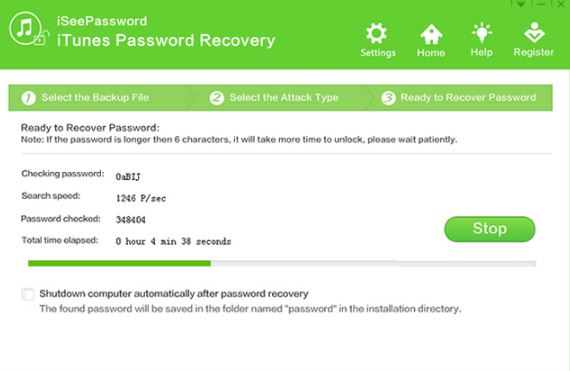 iSeePassword iTunes Password Recovery Decryption
