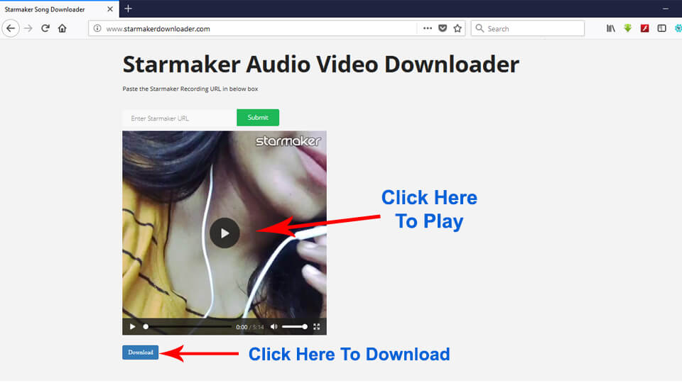 Download Starmaker Video