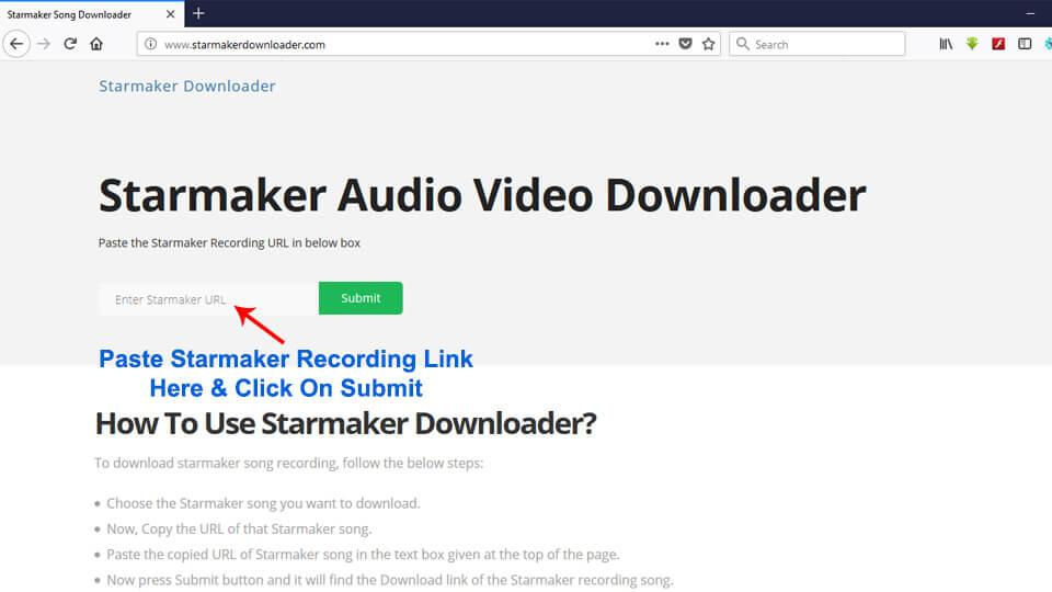 Save Starmaker Video