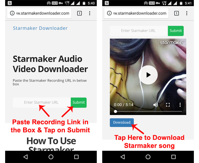 Starmaker Song Download