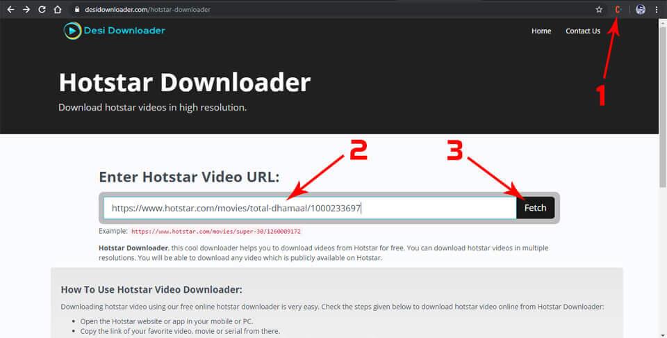 Hotstar Downloader