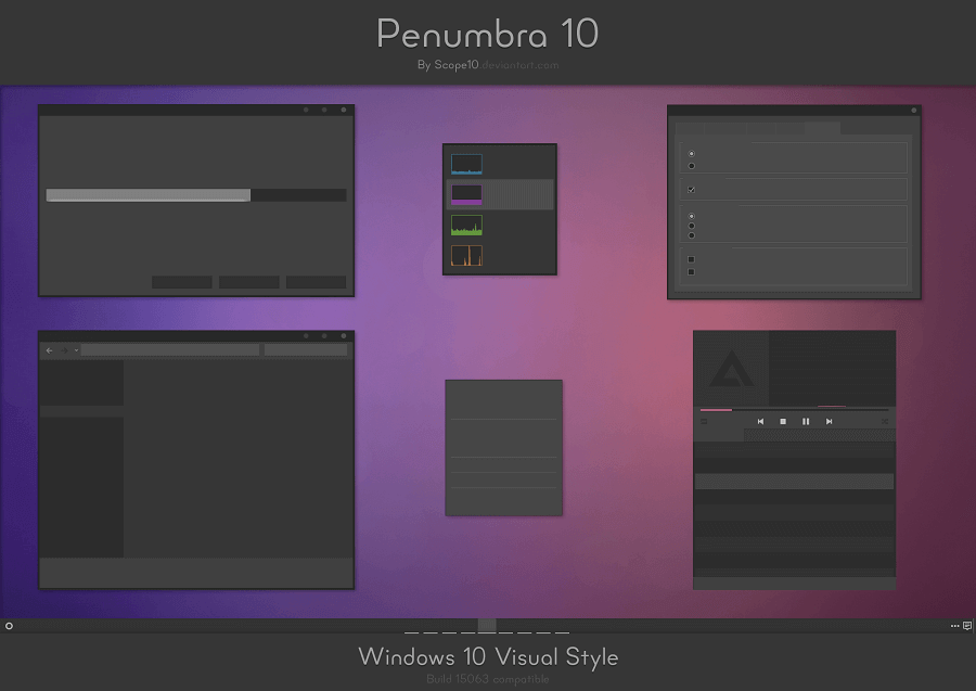 penumbra 10 windows 10 dark theme