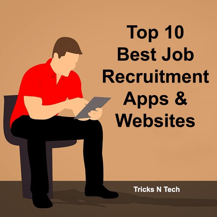 top 10 best job recruitment apps websites tricks n tech