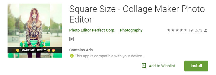 Square Size - Collage Maker Photo Editor