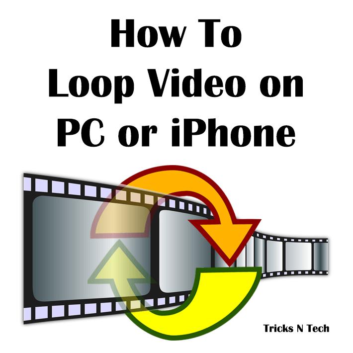 Loop Video on PC iPhone