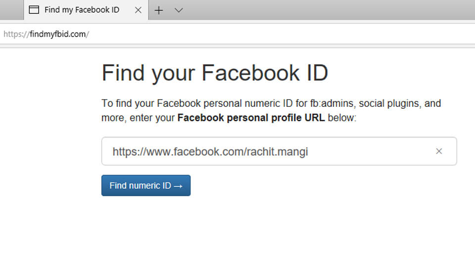 Find Facebook ID