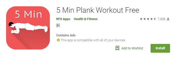 5 Min Plank Workout Free