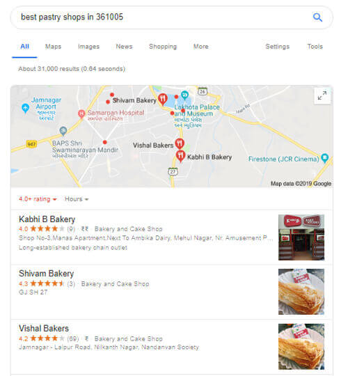 Location based search