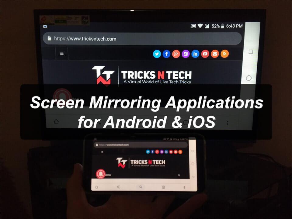 Screen Mirroring Applications