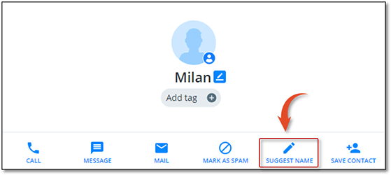 change name from truecaller