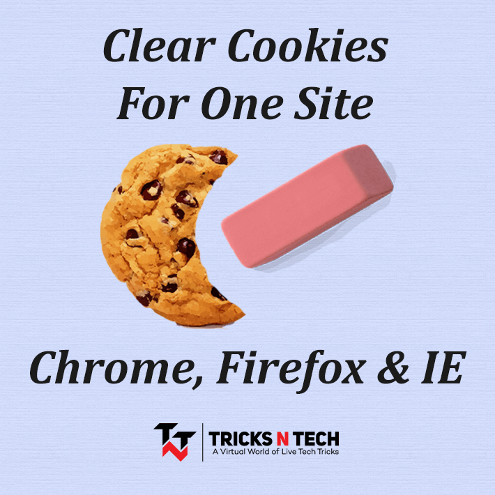 Clear cookies for one site
